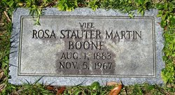 Rosa Margaret <I>Stauter</I> Boone