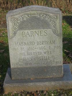 Jean Haskell <I>Cattell</I> Barnes