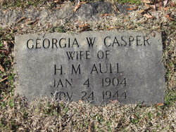 Georgia W. <I>Casper</I> Aull