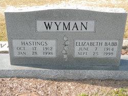 """Hastings """"Wee"""" Wyman, Sr"""