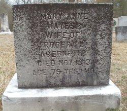 Mary Anne <I>Hayes</I> Abernethy