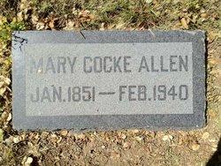 Mary <I>Cocke</I> Allen