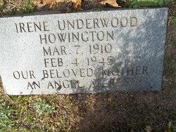 Irene Susie <I>Underwood</I> Howington