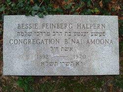 Bessie <I>Feinberg</I> Halpern
