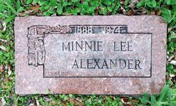 Minnie Lee <I>Hall</I> Alexander