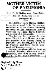 Orpha Susanna <I>Frees</I> Battenberg