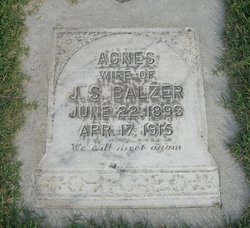"Aganetha ""Agnes"" <I>Harms</I> Balzer"