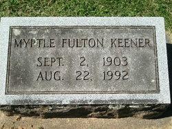 Myrtle Cynthia <I>Fulton</I> Keener