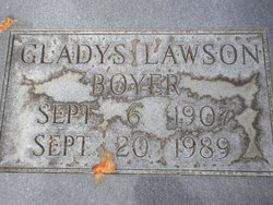 Gladys <I>Lawson</I> Boyer