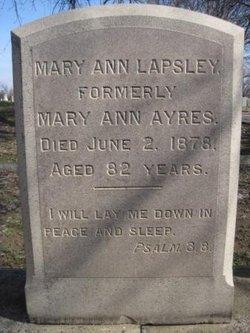 Mary Ann <I>Silliman</I> Lapsley