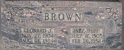 Inez Minerva <I>Shipp</I> Brown