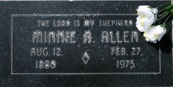 Minnie A. <I>Purvis</I> Allen