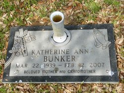 Katherine Ann <I>Sweeney</I> Bunker
