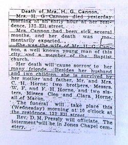 Mrs Anna V <I>Horne</I> Cannon