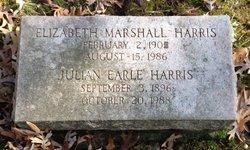 Elizabeth <I>Marshall</I> Harris