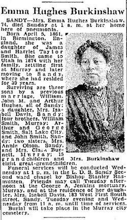 Emma <I>Smith</I> Burkinshaw