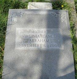 Virginia <I>Lance</I> Abraham
