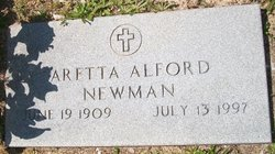 Aretta <I>Giddens</I> Alford Newman