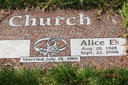Alice E <I>Spurling</I> Church