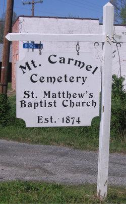 Mount Carmel Cemetery - St Matthew's Baptist