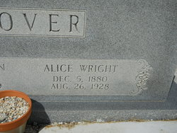 Alice Lenora <I>Wright</I> Glover