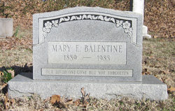 Mary Ethel <I>George</I> Balentine