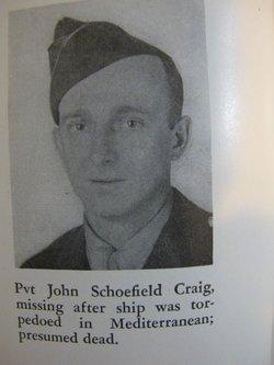 Pvt John Schoefield Craig
