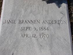 Janie <I>Brannen</I> Anderson