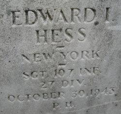 Sgt Edward I. Hess