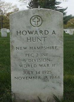 PFC Howard A Hunt