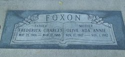 Olive Ada Annie <I>Reader</I> Foxon