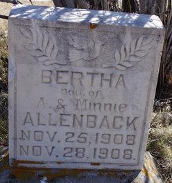 Bertha Allenback