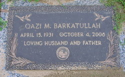 Dr Qazi Muhummad Barkatullah