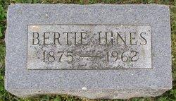 """Bertha """"Bertie"""" <I>Hines</I> Dean"""