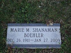 Marie M <I>Shanaman</I> Boehler Hackman