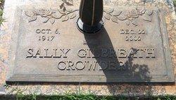Sally <I>Swinney</I> Gilbreath Crowder