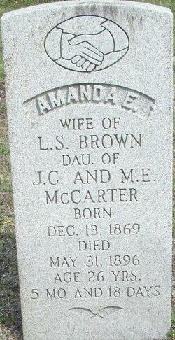 Amanda E. <I>McCarter</I> Brown