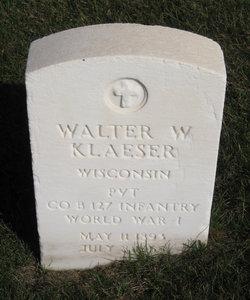 Walter W Klaeser