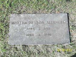 Martha Matilda <I>Nelson</I> Aldinger
