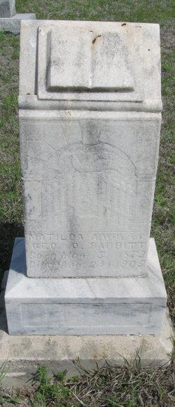 Matilda A. Babbitt