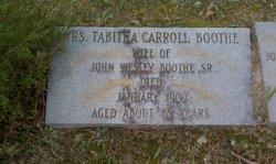 Tabitha <I>Carroll</I> Boothe
