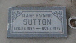 Florence Claire <I>Haymond</I> Sutton