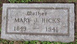 Mary J <I>Reed</I> Hicks
