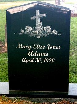 Mary Elise <I>Jones</I> Adams