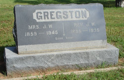 Rev James Walter Gregston