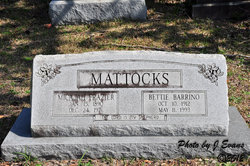Bettie <I>Barrino</I> Mattocks