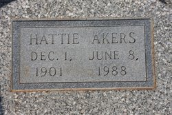 Hattie Elmer <I>Griffin</I> Akers