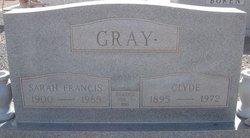 "Sarah Frances ""Fannie"" <I>Scrimshire</I> Gray"