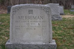 Mary Lizzie <I>Leonard</I> Merriman