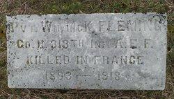 Pvt William McKinley Fleming